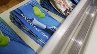 Impresión de catálogos para Real Club de Padel Marbella